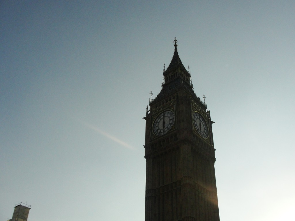 closeup of big ben clock tower
