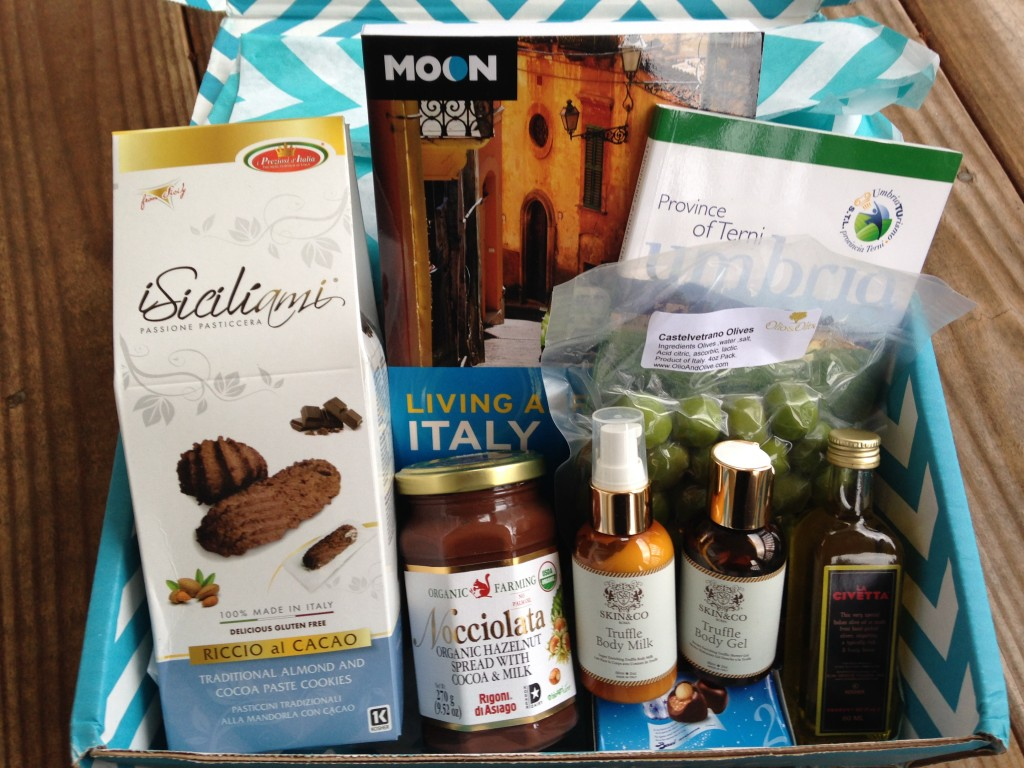 escape monthly december italy box products showing