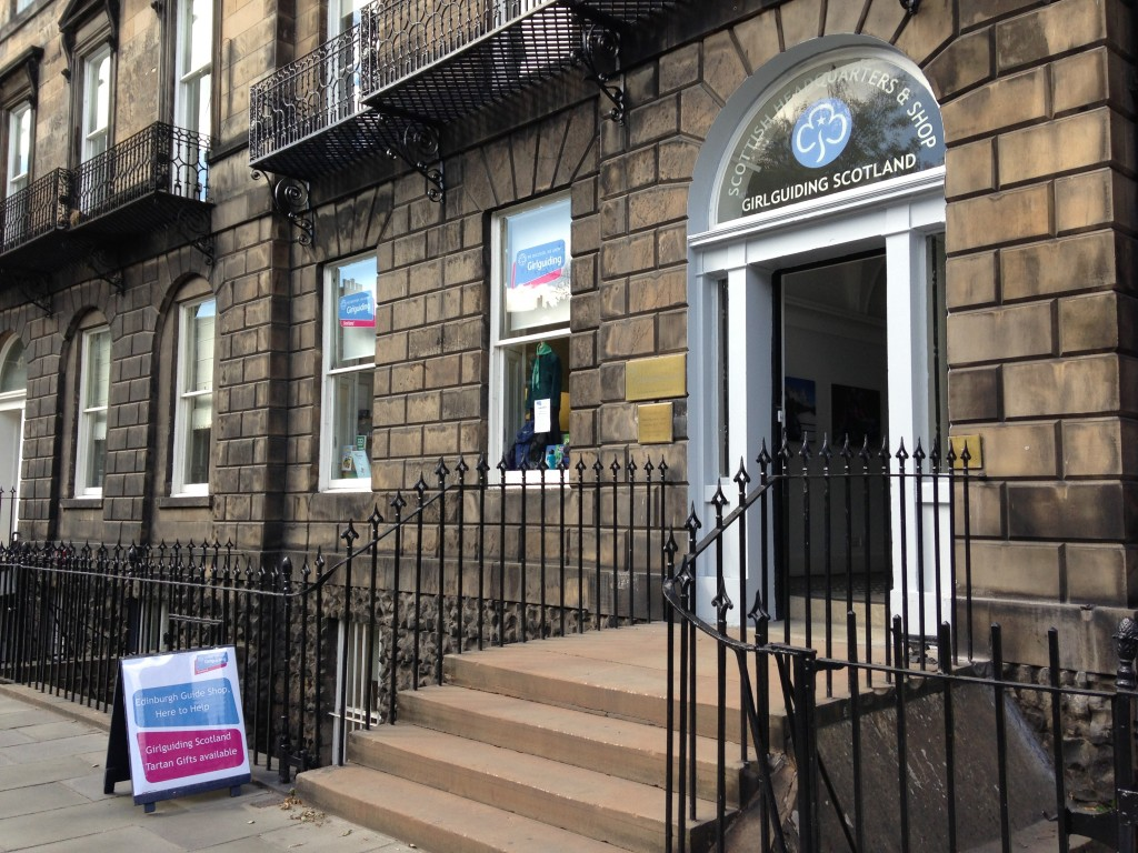 girl guiding scotland headquarters and shop