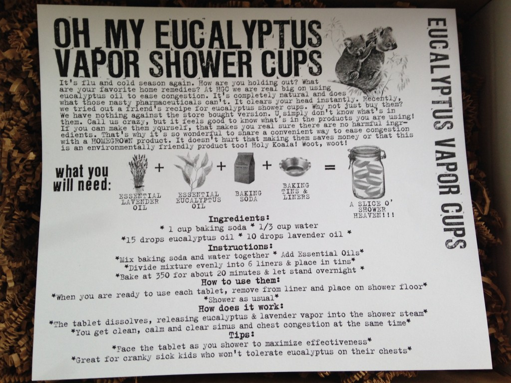 the homegrown collective december 2013 project eucalyptus vapor cups info card