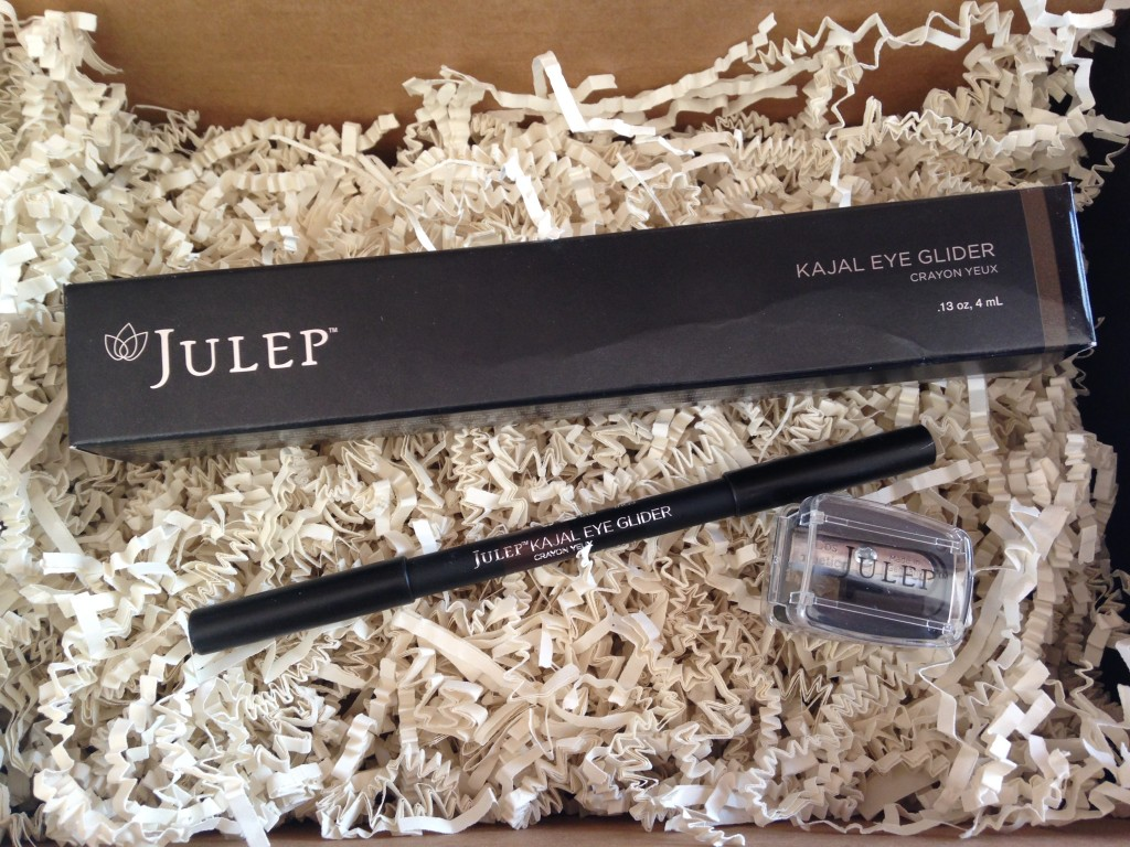 julep kajal eye glider in brown shimmer and carbon black with sharpener