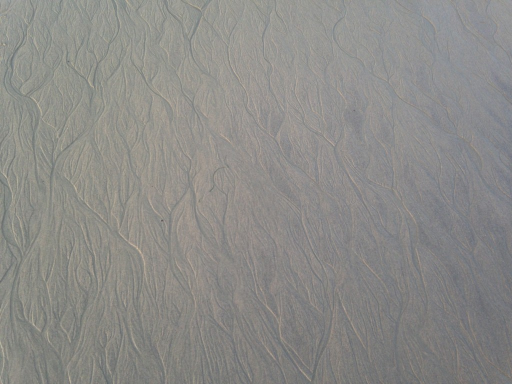 ripple pattern in sand at beach