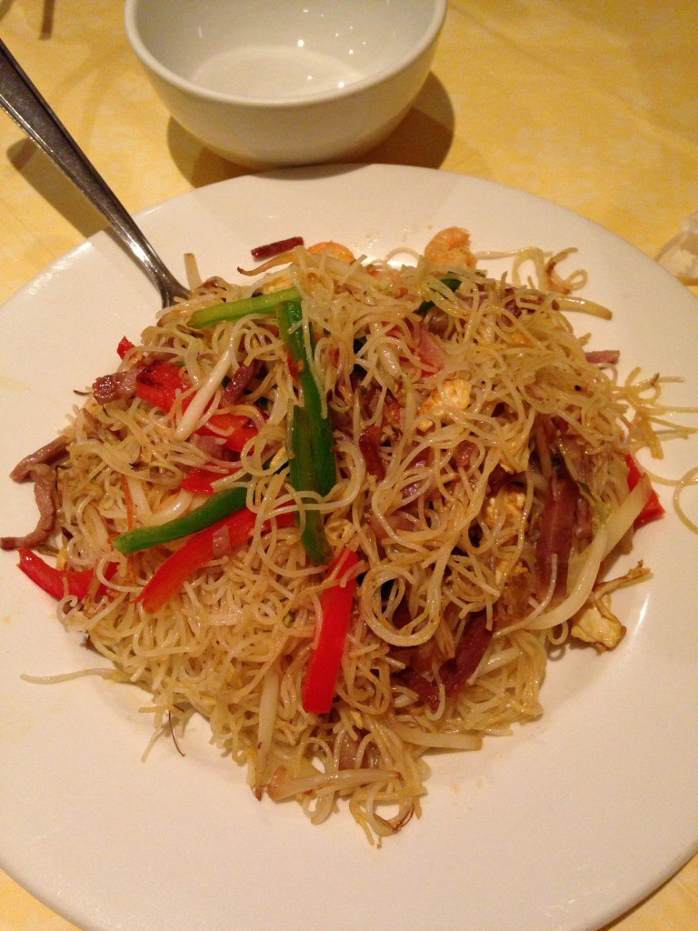 singapore noodles dish at china star restaurant in edinburgh