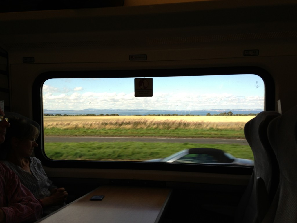 view of landscape in united kingdom from train window