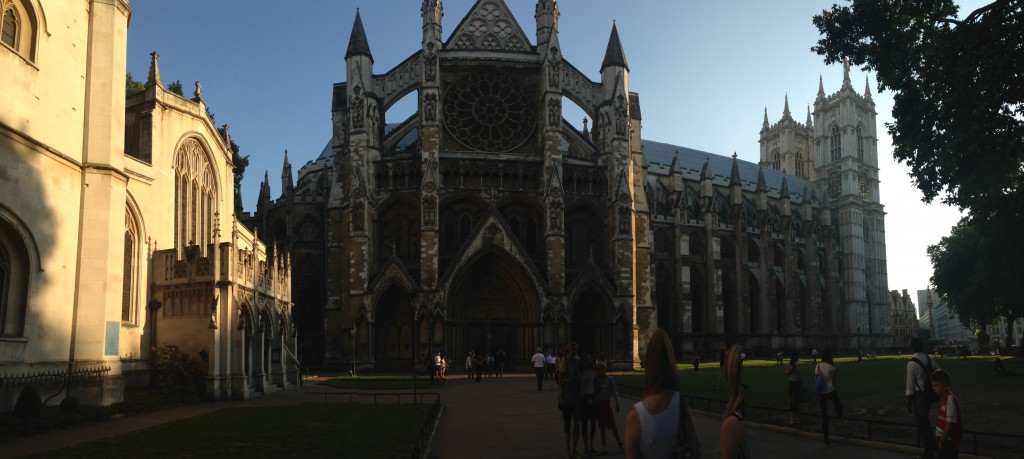 panoramic view of westminster from side