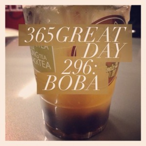 365great challenge day 296: boba