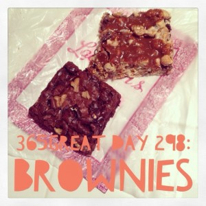 365great challenge day 298: brownies