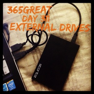 365great day 311: external drives