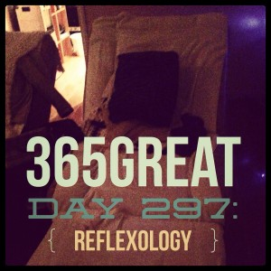 365great challenge day 297: reflexology