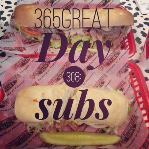 365great challenge day 308: subs