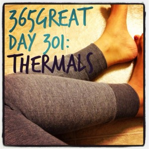 365great challenge day 301: thermals
