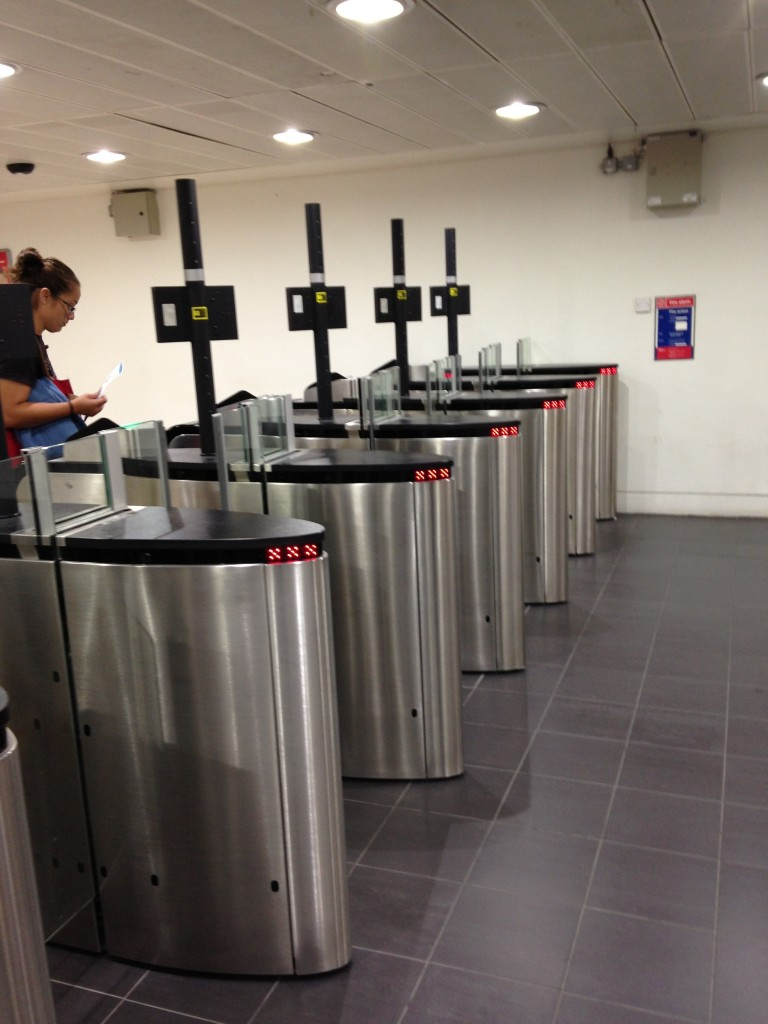 automatic airport security gates at london heathrow