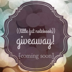 little fat notebook blog giveaway coming soon announcement badge