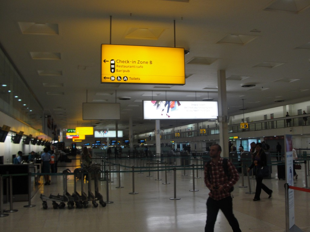 interior of london heathrow airport