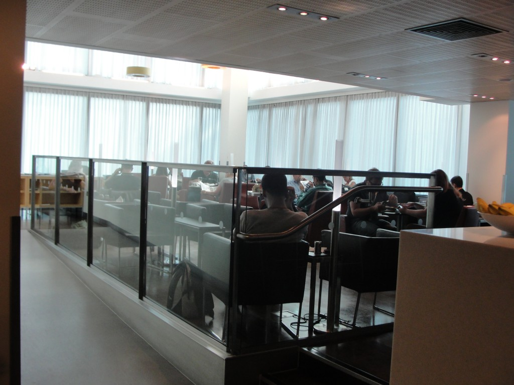 star alliance lounge area with single person couches and tables