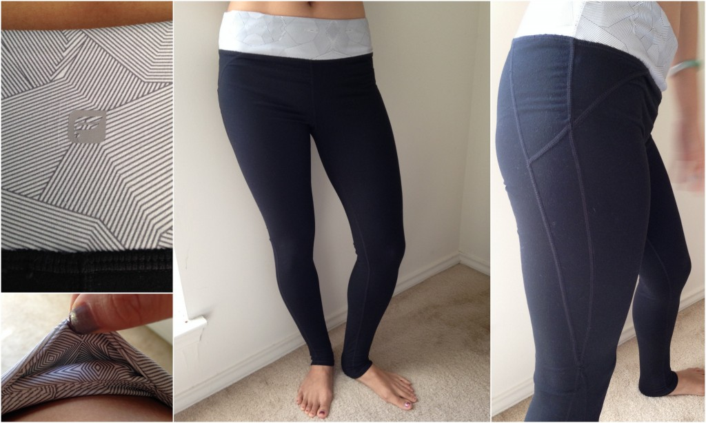 collage of nadi legging in black with stripe