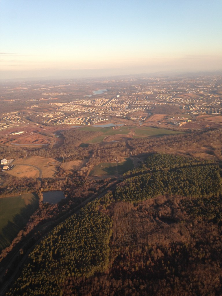 aerial of northern virginia area near dulles airport