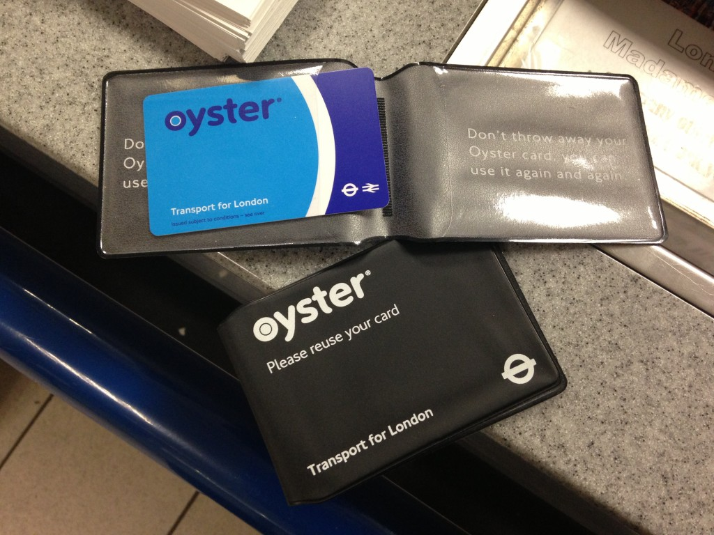 london tube underground oyster cards