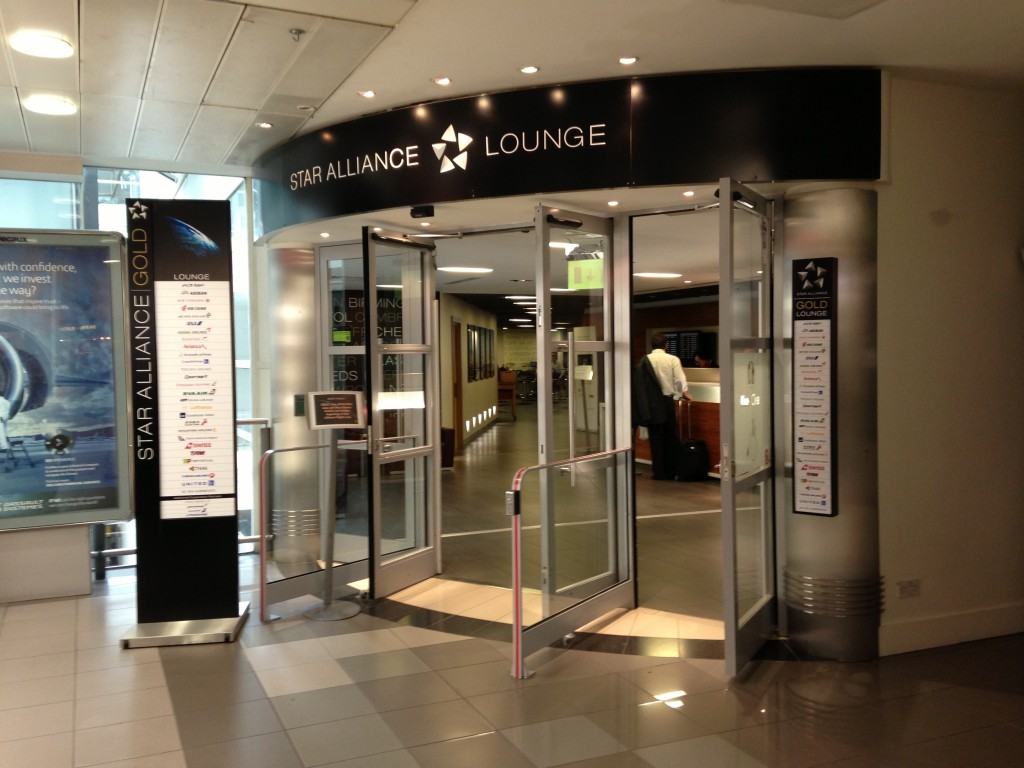 entrance to star alliance lounge at london heathrow airport