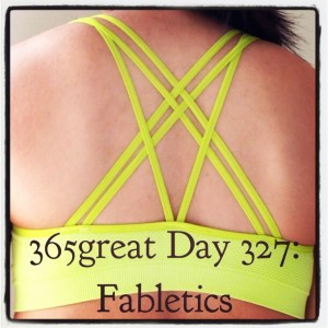 365great day 327: fabletics