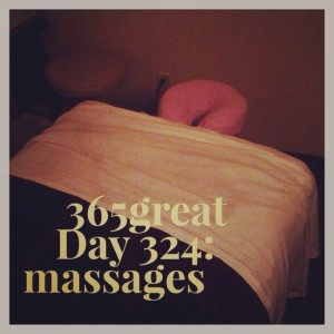 365great day 324: massages