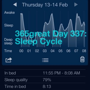 365great day 337: sleep cycle