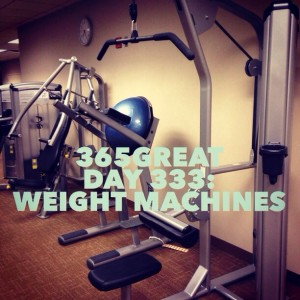 365great day 333: weight machines
