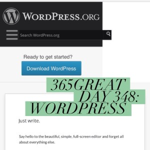 365great day 348: wordpress