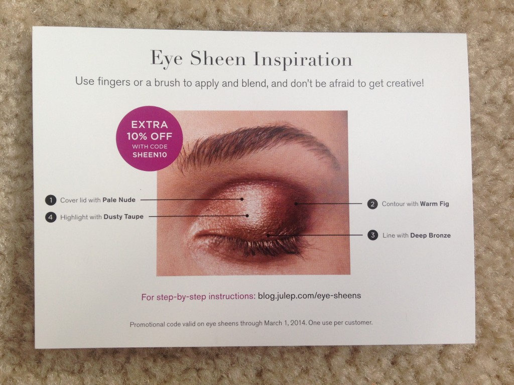 julep eye sheen information card
