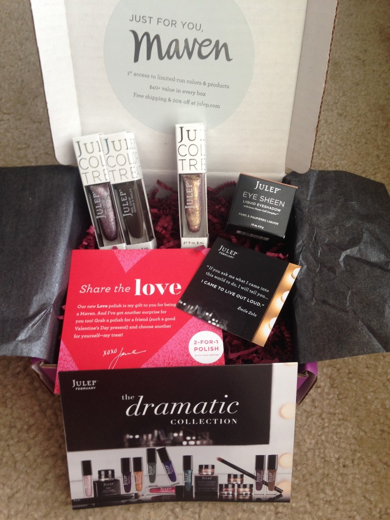 julep maven boho glam february 2014 dramatic collection box contents