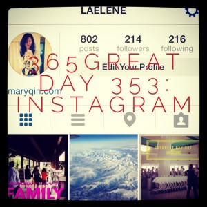 365great day 353: instagram
