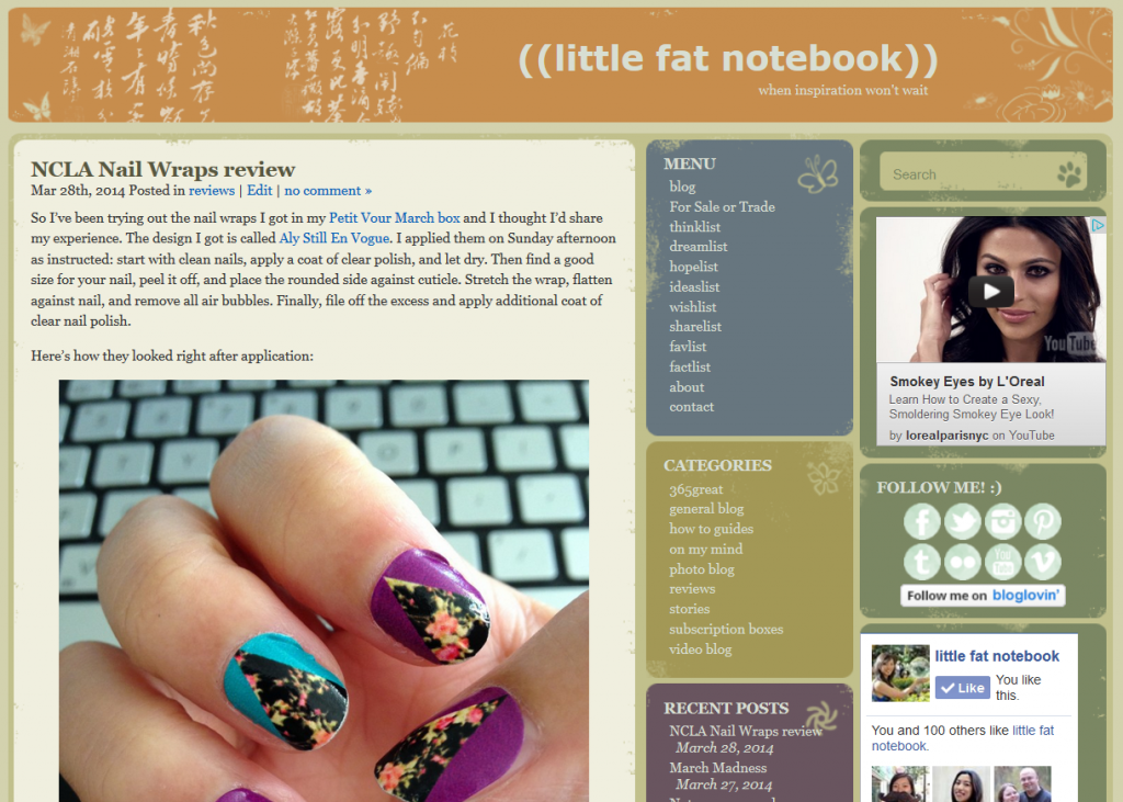 little fat notebook blog with page style wordpress theme