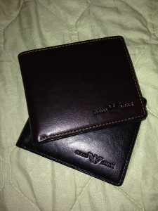 men's leather wallets in brown and black from silk street market