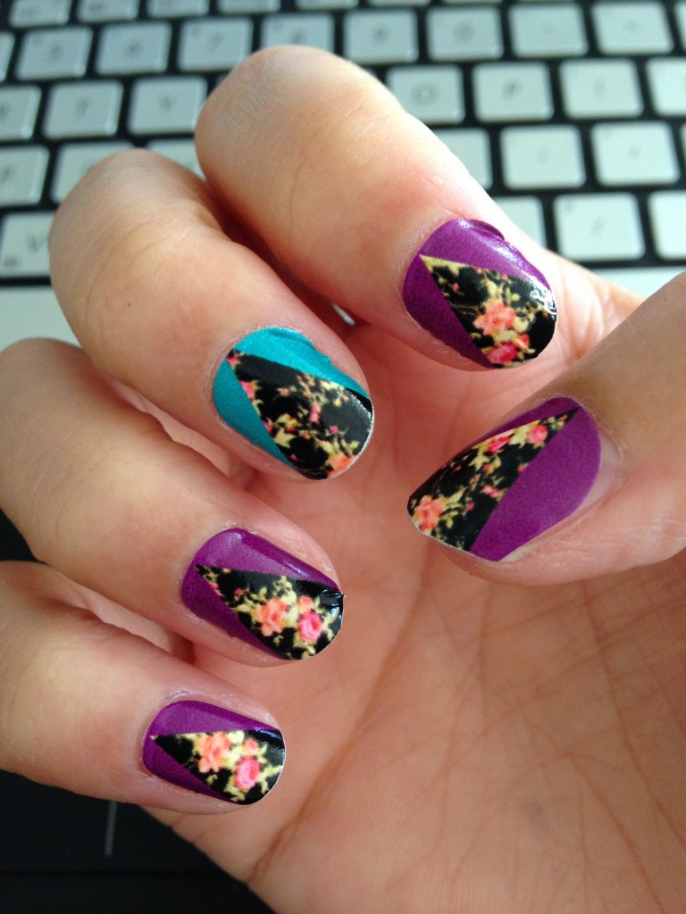 ncla nail wraps in aly still en vogue on nails of right hand