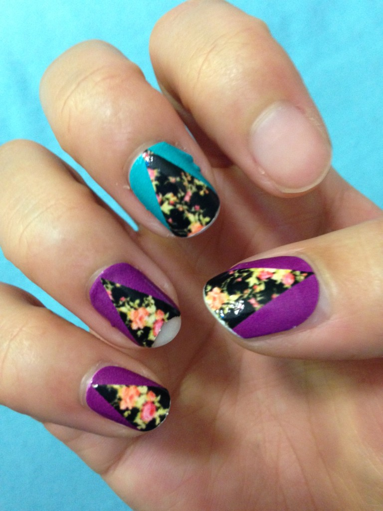 ncla nail wraps in aly still en vogue on nails of right hand after five days of wear