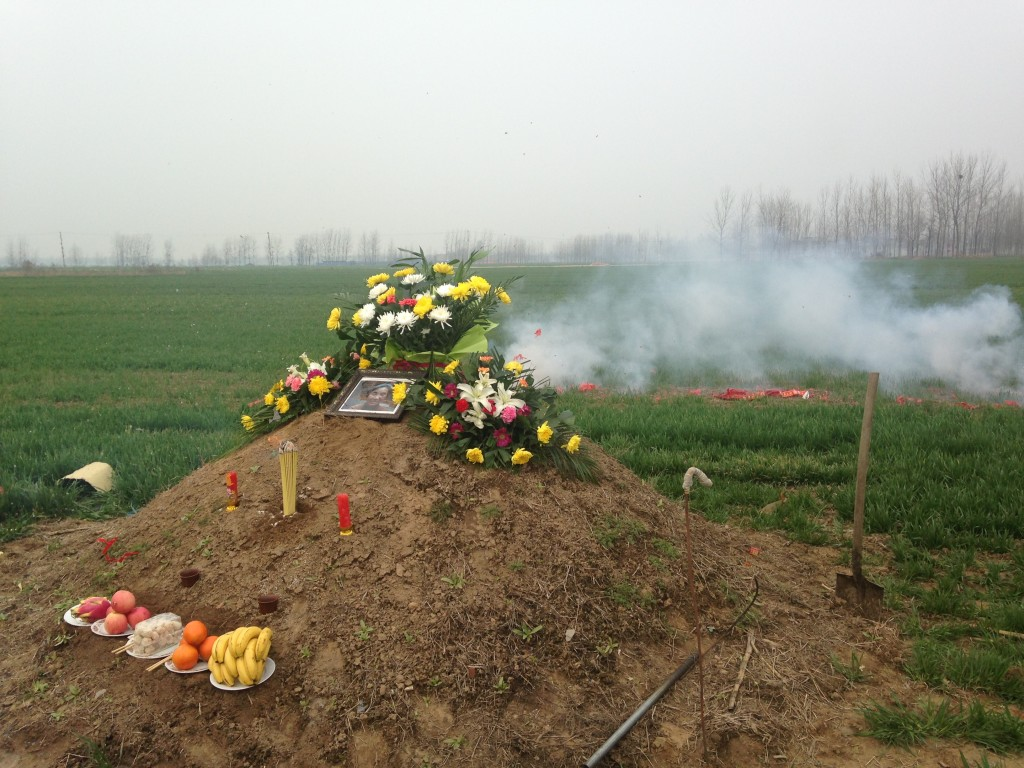 setting off fireworks at grave site to announce arrival
