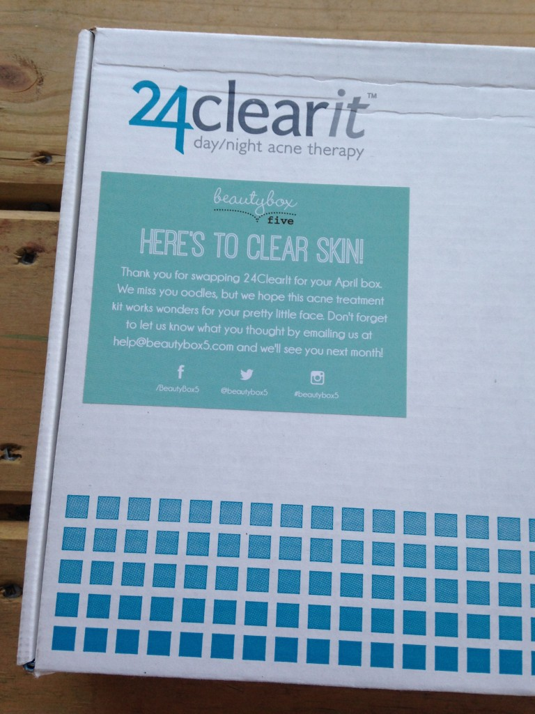 24clearit box with beauty box 5 sticker