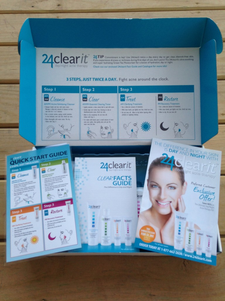 24clearit instructions including quick start guide, clear facts guide, and product booklet
