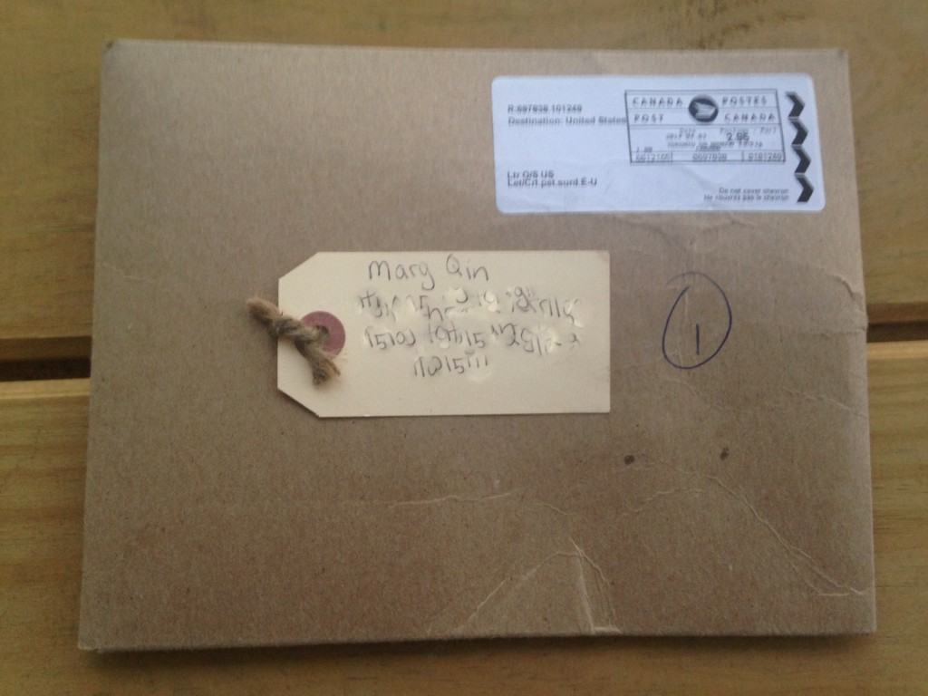brown paper envelope from kaia naturals in canada