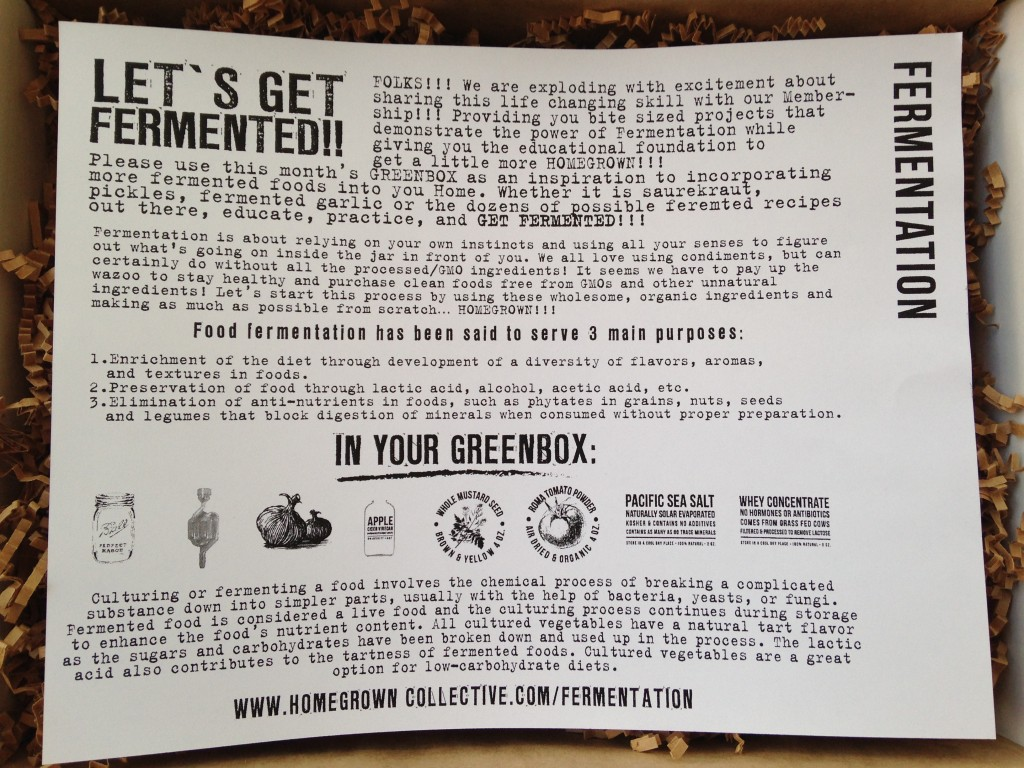 the homegrown collective april 2014 fermentation info card