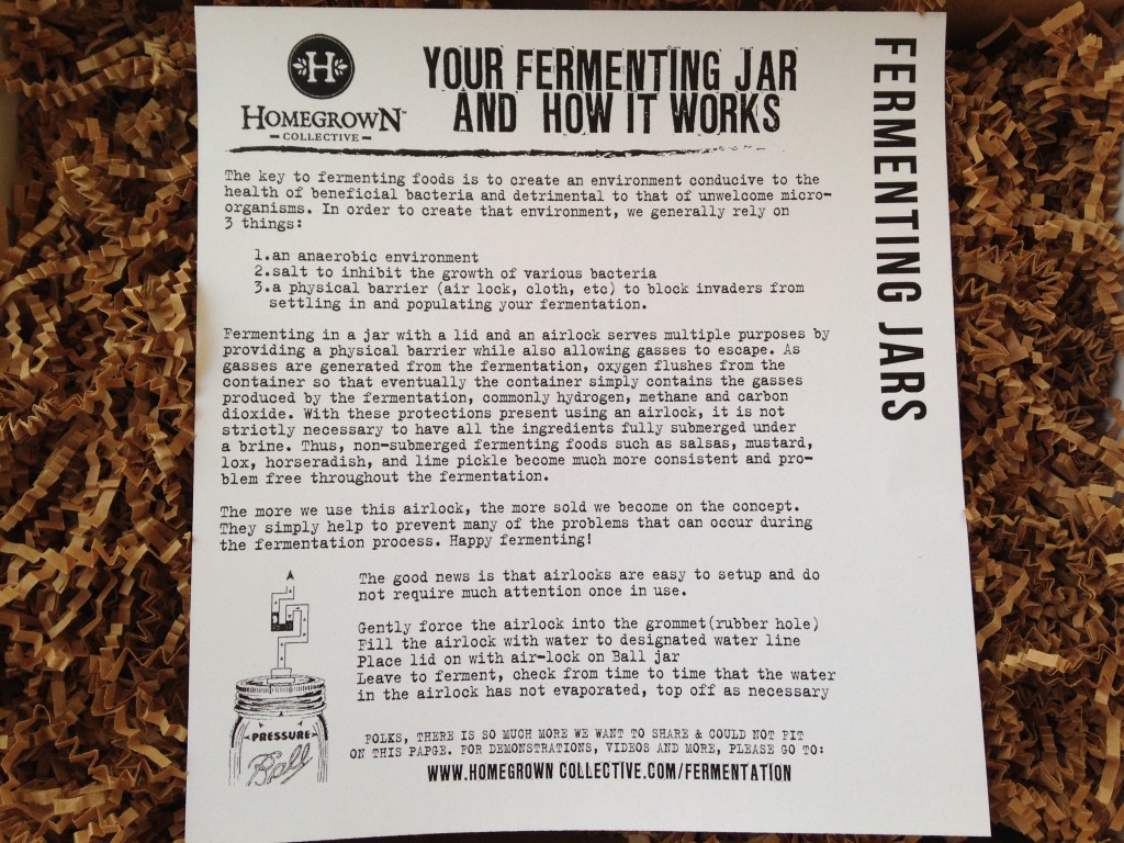 the homegrown collective april 2014 fermenting jars info card