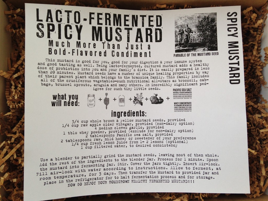 the homegrown collective april 2014 project spicy mustard info card