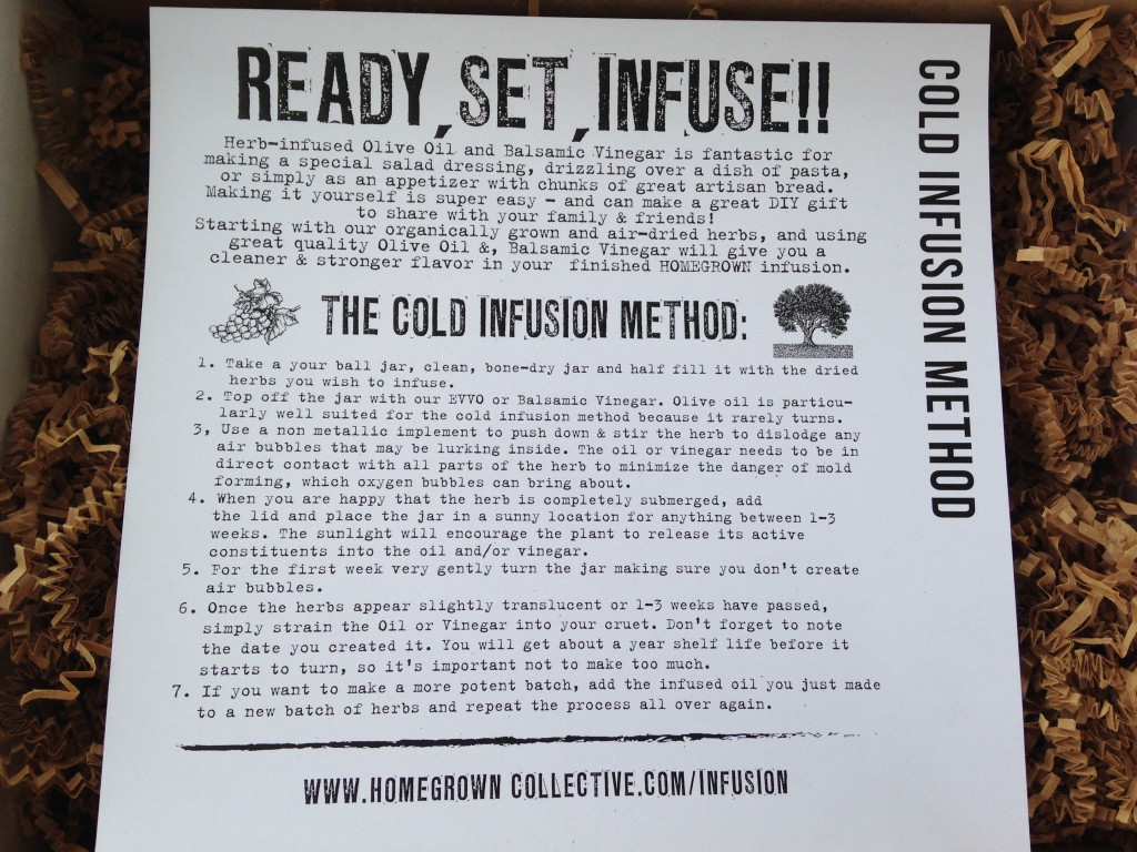 the homegrown collective may 2014 project cold infusion info card