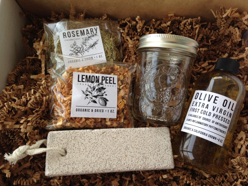 the homegrown collective may 2014 products for foot soak and scrub