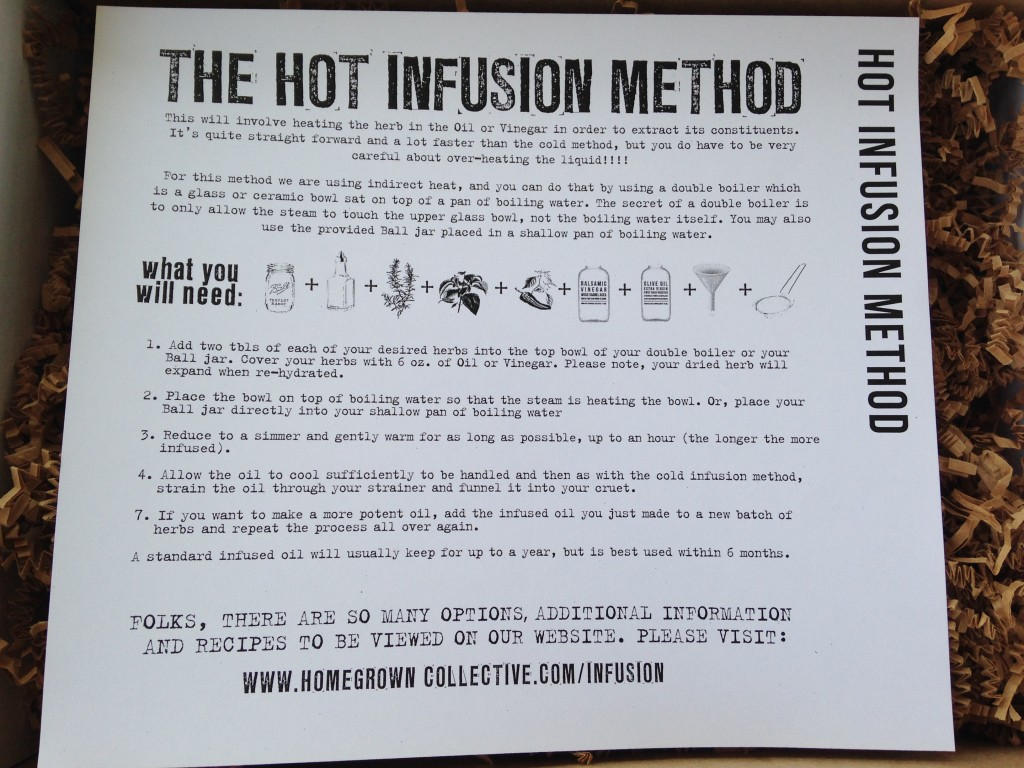 the homegrown collective may 2014 project hot infusion info card