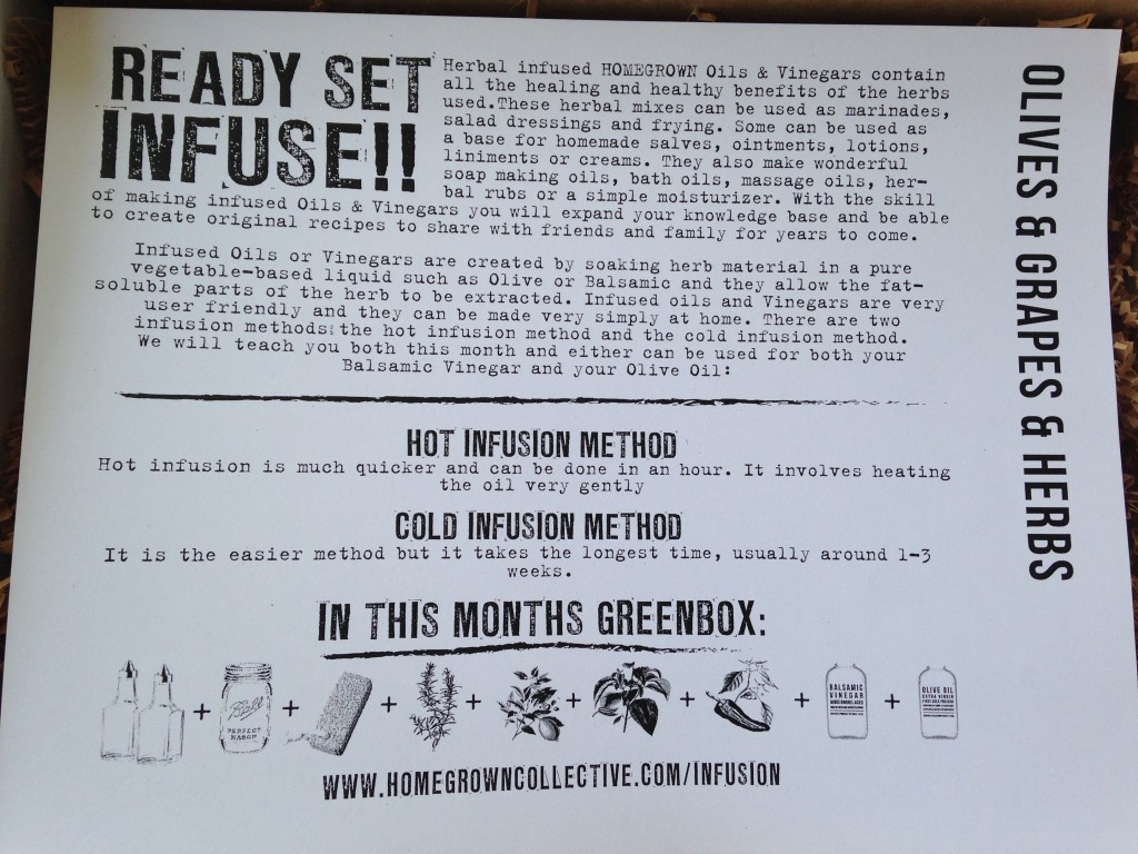 the homegrown collective may 2014 infusion info card