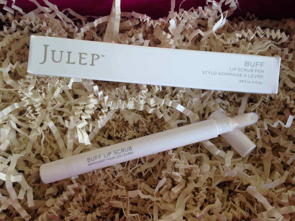 julep buff lip scrub pen with fuzzy application tip