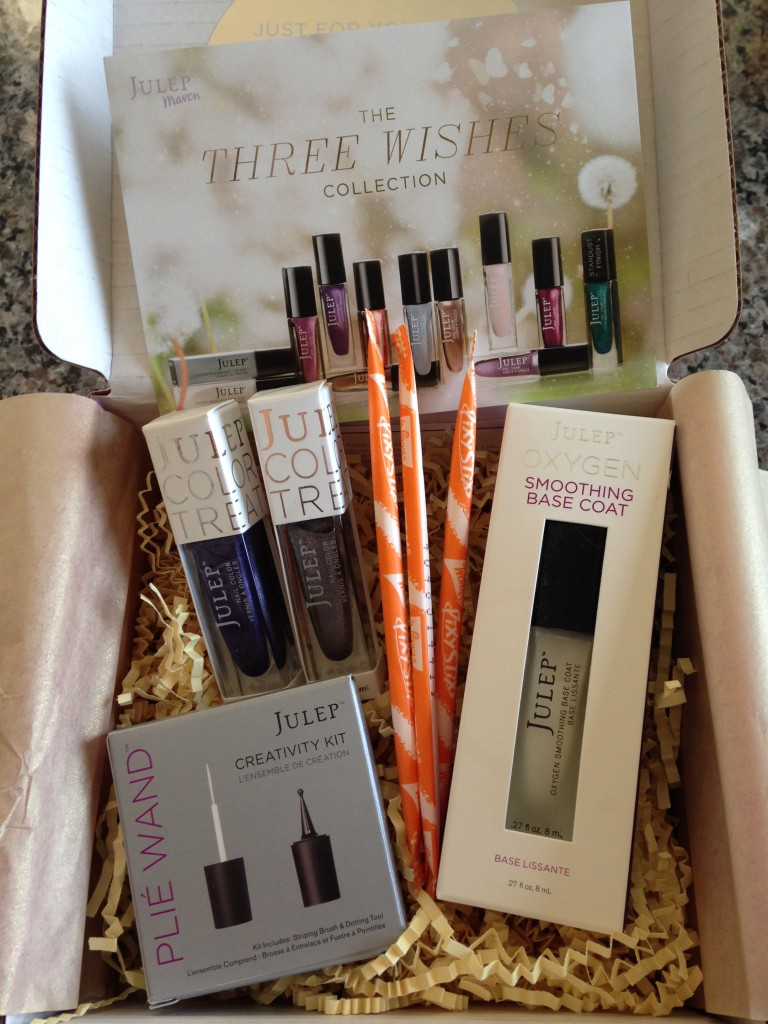 julep maven bombshell june 2014 three wishes collection box contents