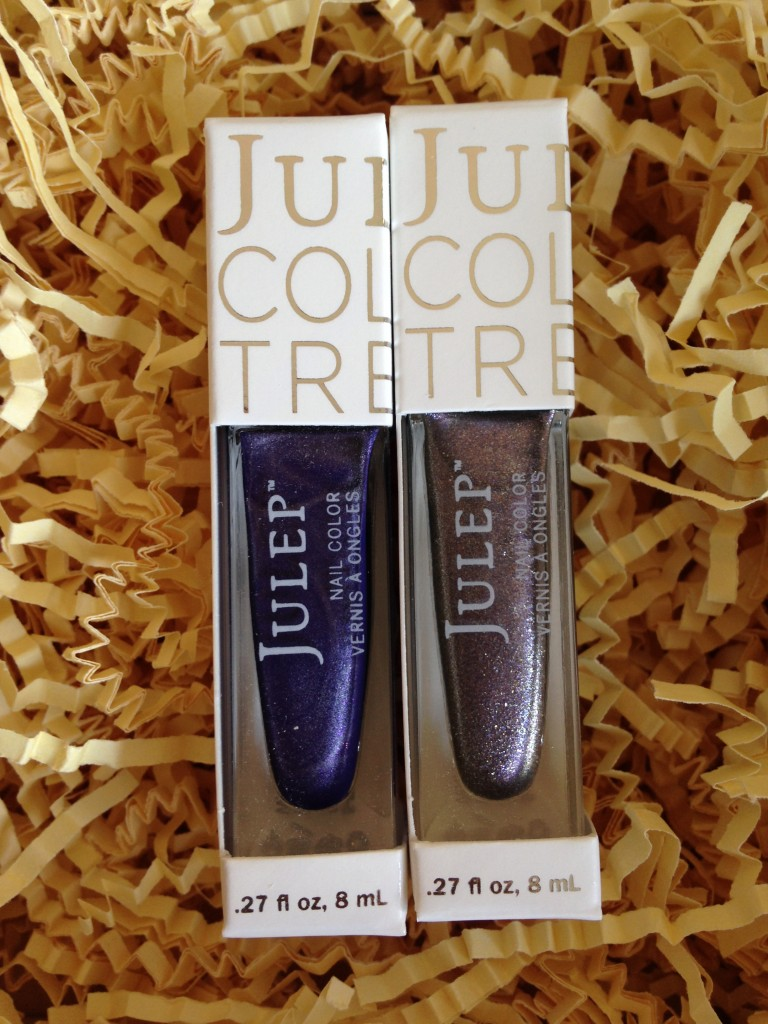 set of julep polishes in colette and sera