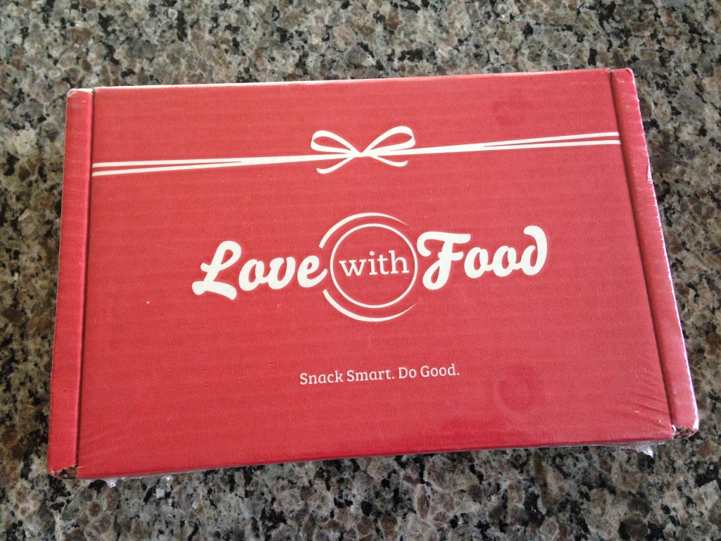love with food box in plastic wrap